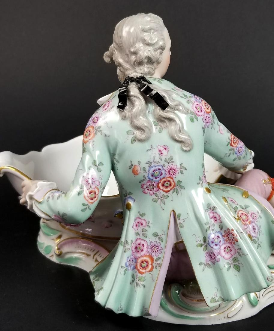 Pair  of 19th C. Meissen Figural Sweetmeat Dishes - 8