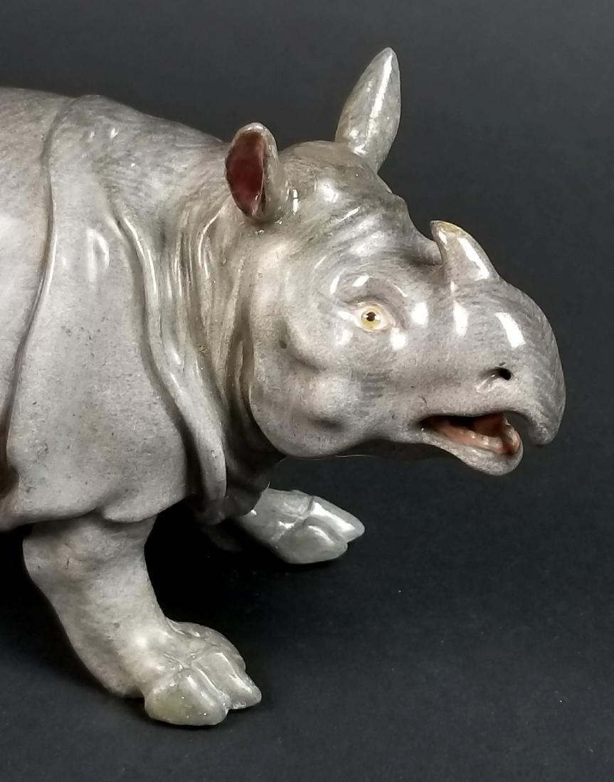 19th C. Meissen Porcelain Figure of Rhino - 2