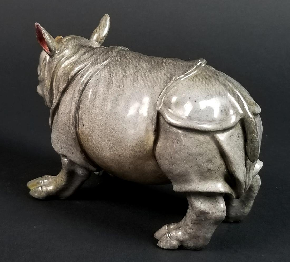 19th C. Meissen Porcelain Figure of Rhino - 3