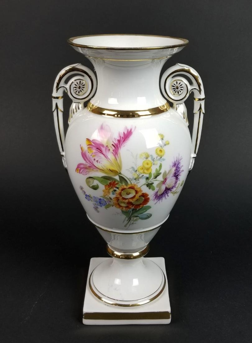 19th C. Meissen Hand Painted Vase