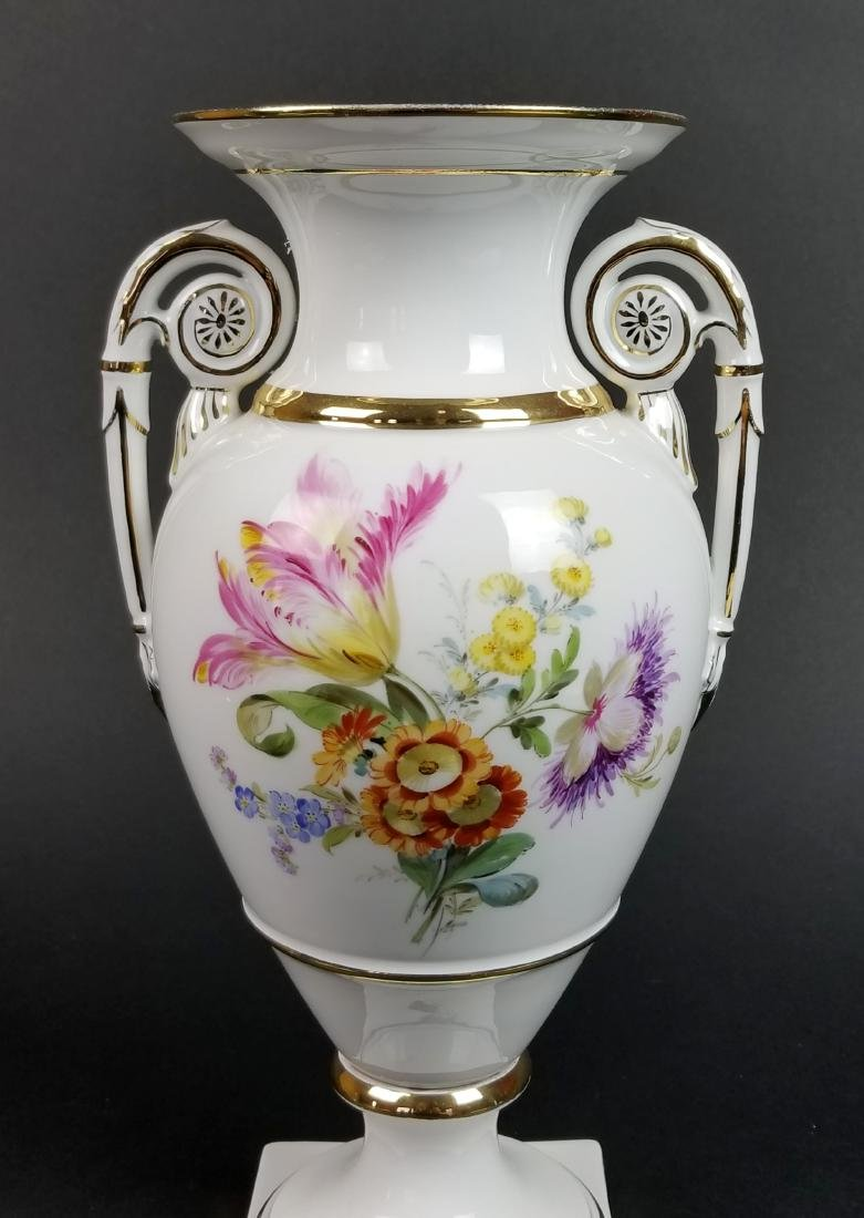 19th C. Meissen Hand Painted Vase - 2