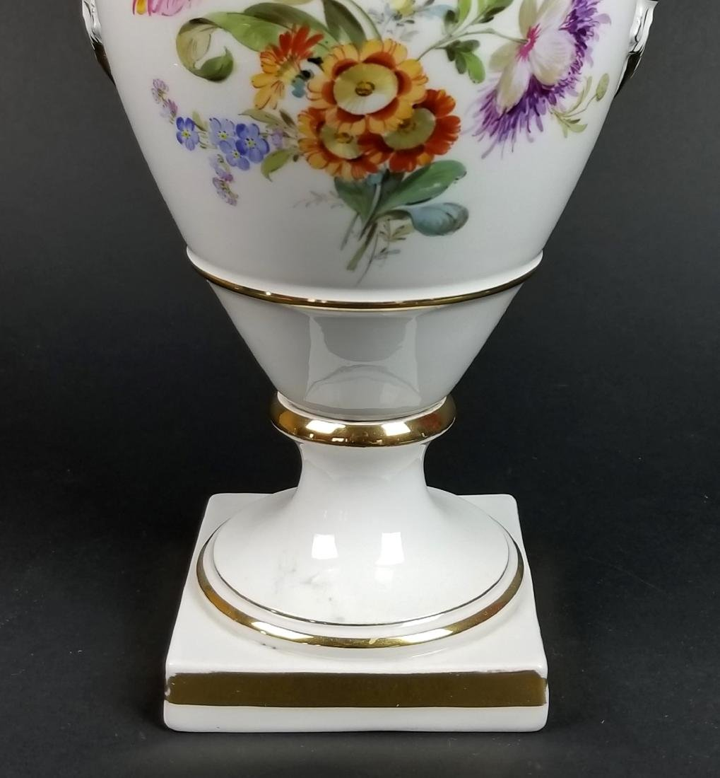 19th C. Meissen Hand Painted Vase - 3