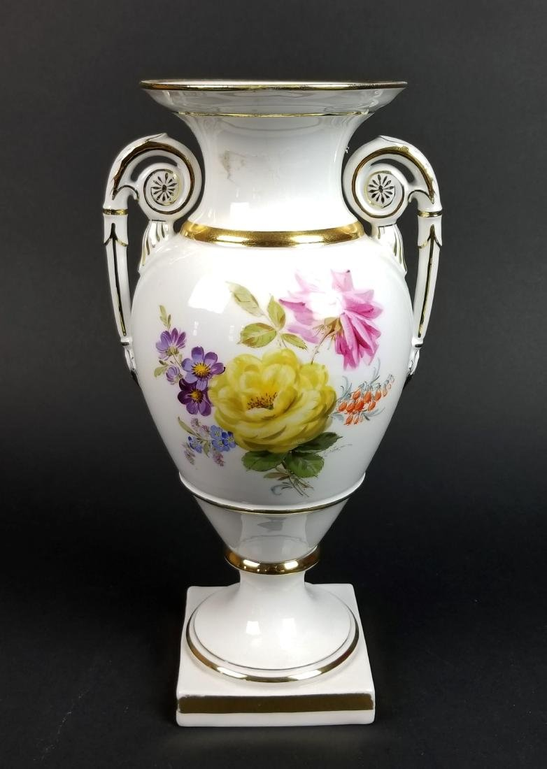 19th C. Meissen Hand Painted Vase - 6
