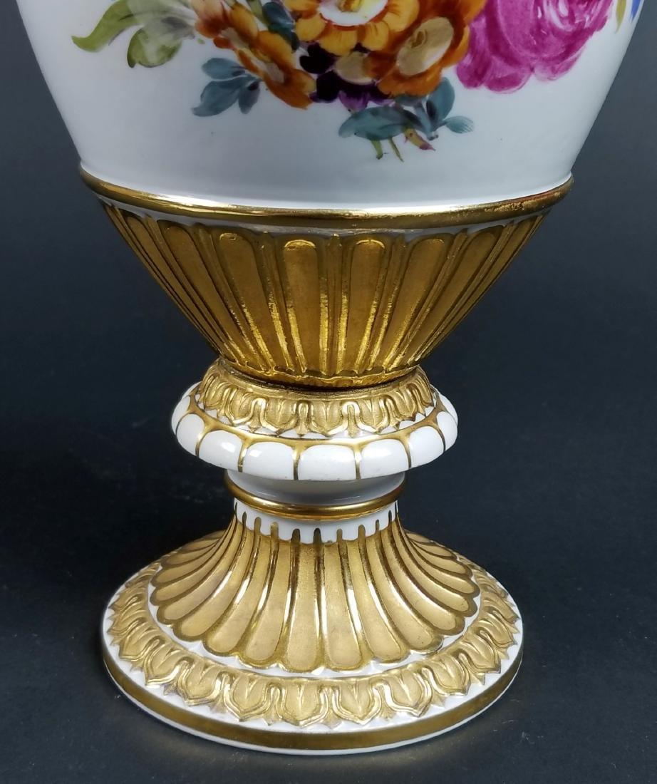 19th C. Meissen Cobalt Large Snake Handled Vase - 8