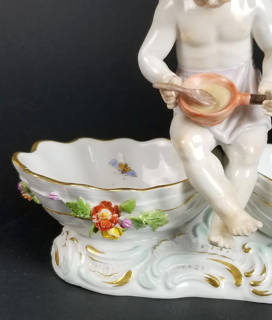 19th C. Meissen Porcelain Figural Salt - 2
