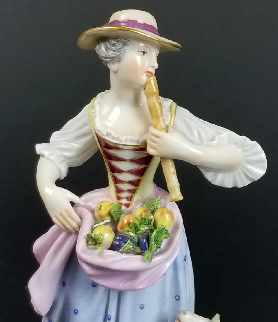 19th C. Meissen Figural Group of Woman w/ Sheep - 2