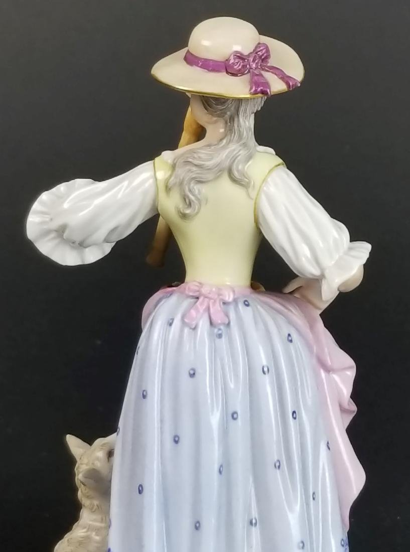 19th C. Meissen Figural Group of Woman w/ Sheep - 5
