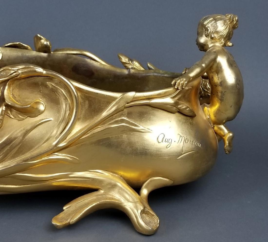Large French Figural Bronoze Jardeniere Centerpiece - 5