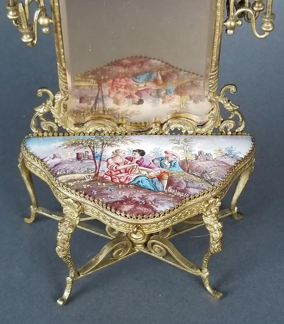 19th C. Austrian Viennese Enamel Vanity Table with - 4