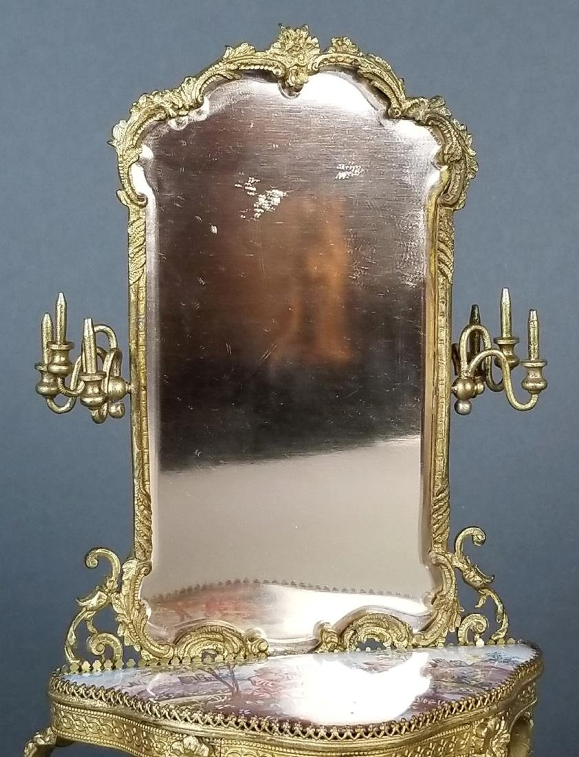 19th C. Austrian Viennese Enamel Vanity Table with - 5