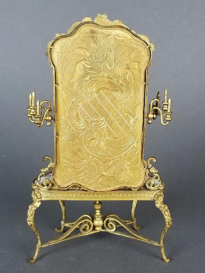 19th C. Austrian Viennese Enamel Vanity Table with - 6