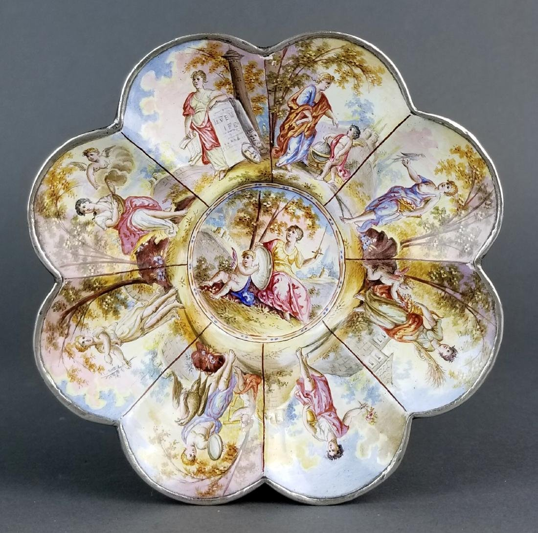 Magnificent Large Austrian Viennese Enamel on Silver - 2