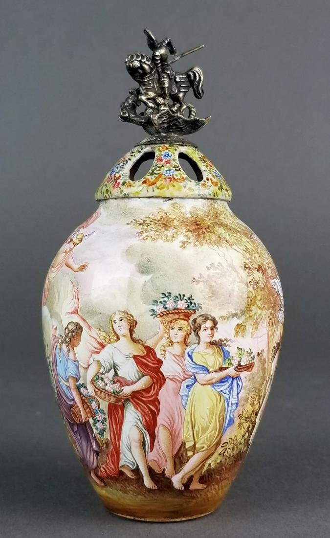 Magnificent Large Austrian Viennese Enamel on Silver - 7