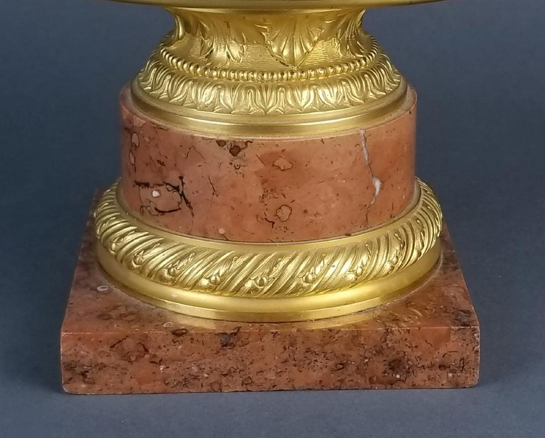 19th C. Fine Mercury Gold, Bronze and Rouge Marble - 3