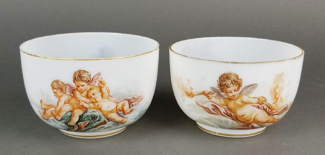 Pair of 19th C. Baccarat Opaline Bowls
