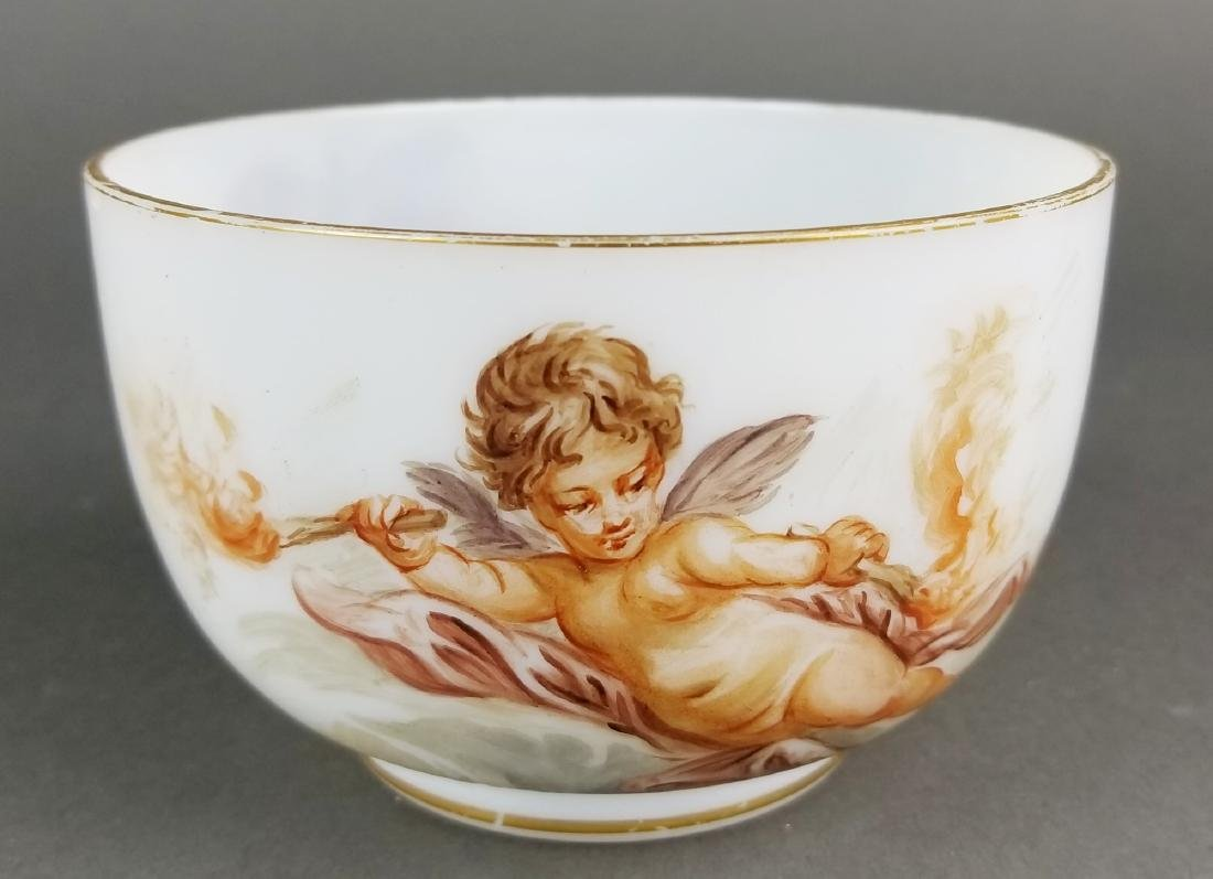 Pair of 19th C. Baccarat Opaline Bowls - 5