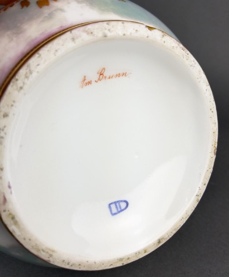 Pair of Exquisite Large Royal Vienna Hanpainted Vases, - 10