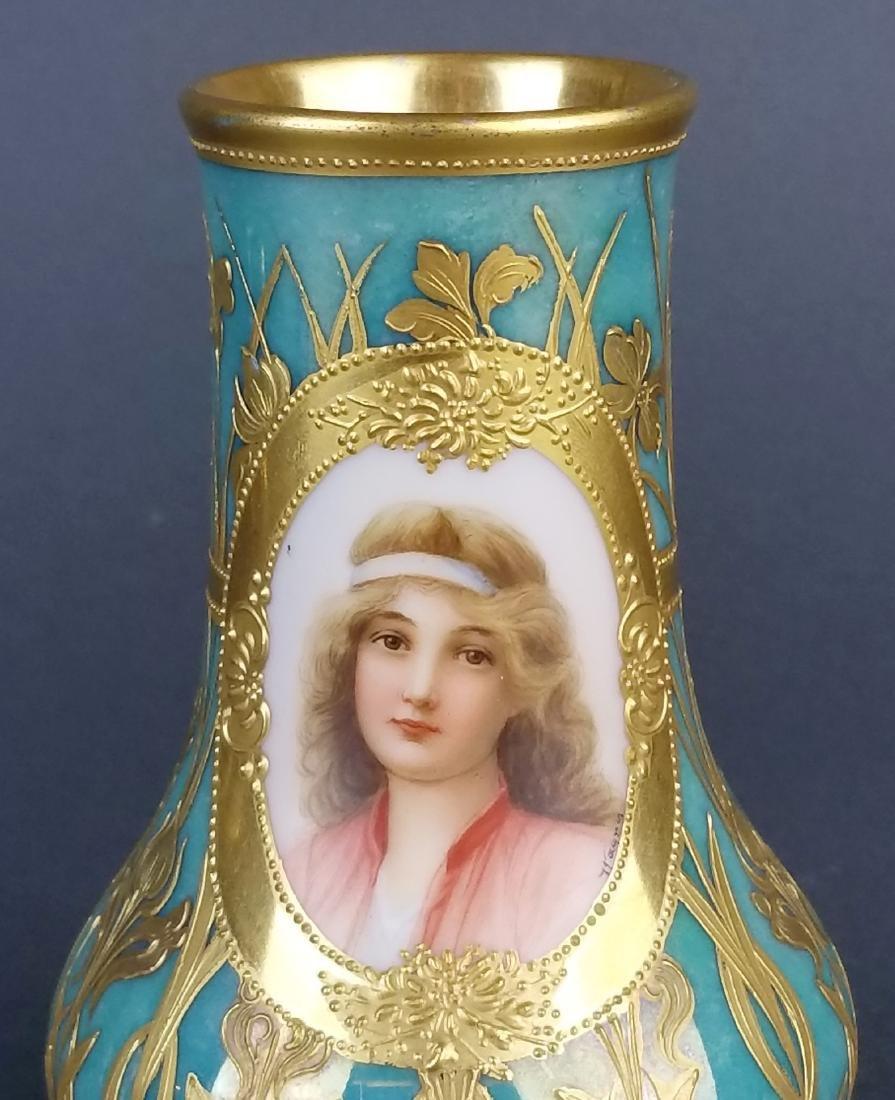 Fine 19th C. Royal Vienna Handpainted Vase - 2