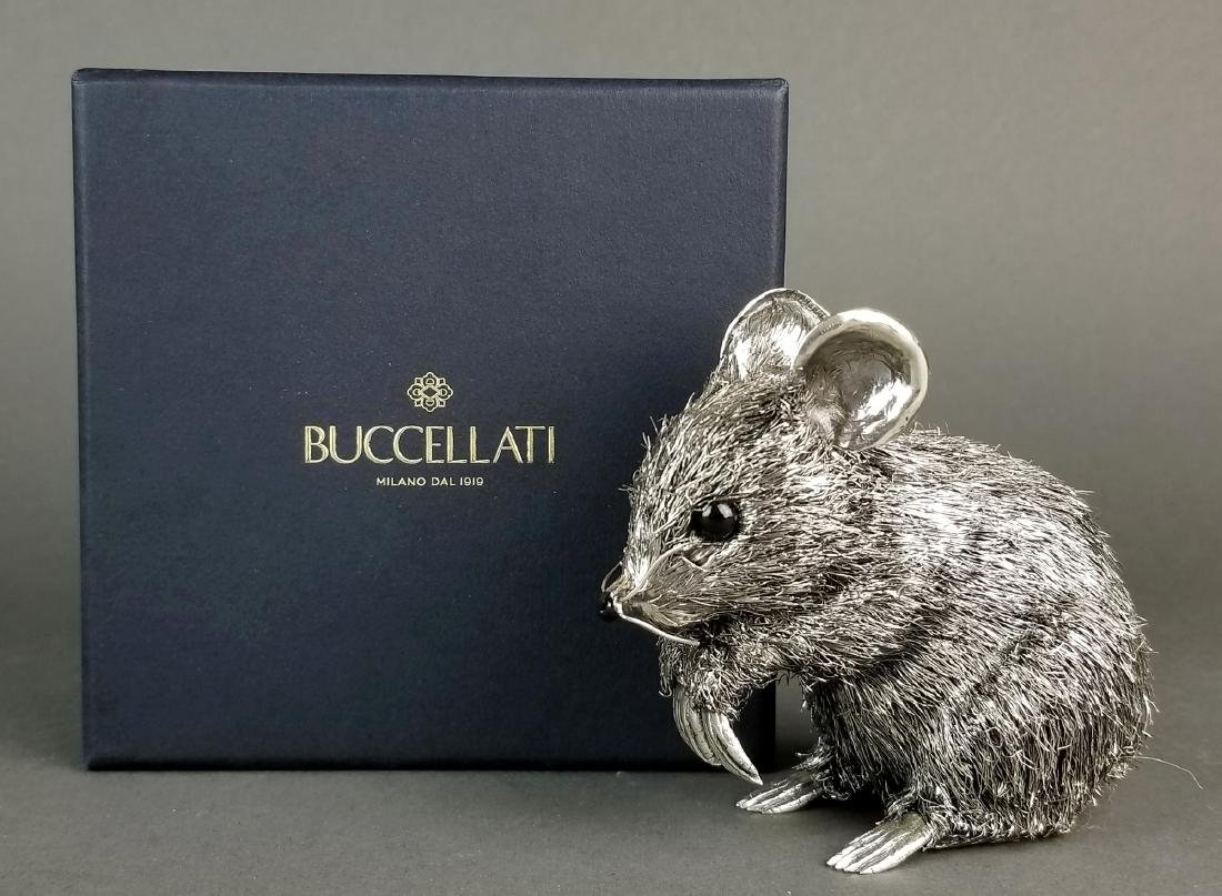 Large Buccellati Signed Silver Handmade Figure of Mouse