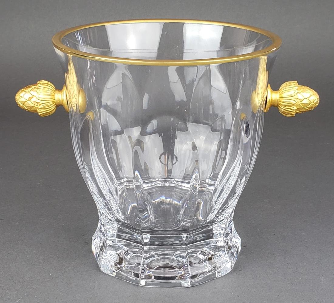 Faberge Atelier Crystal & Bronze Ice Bucket - 2