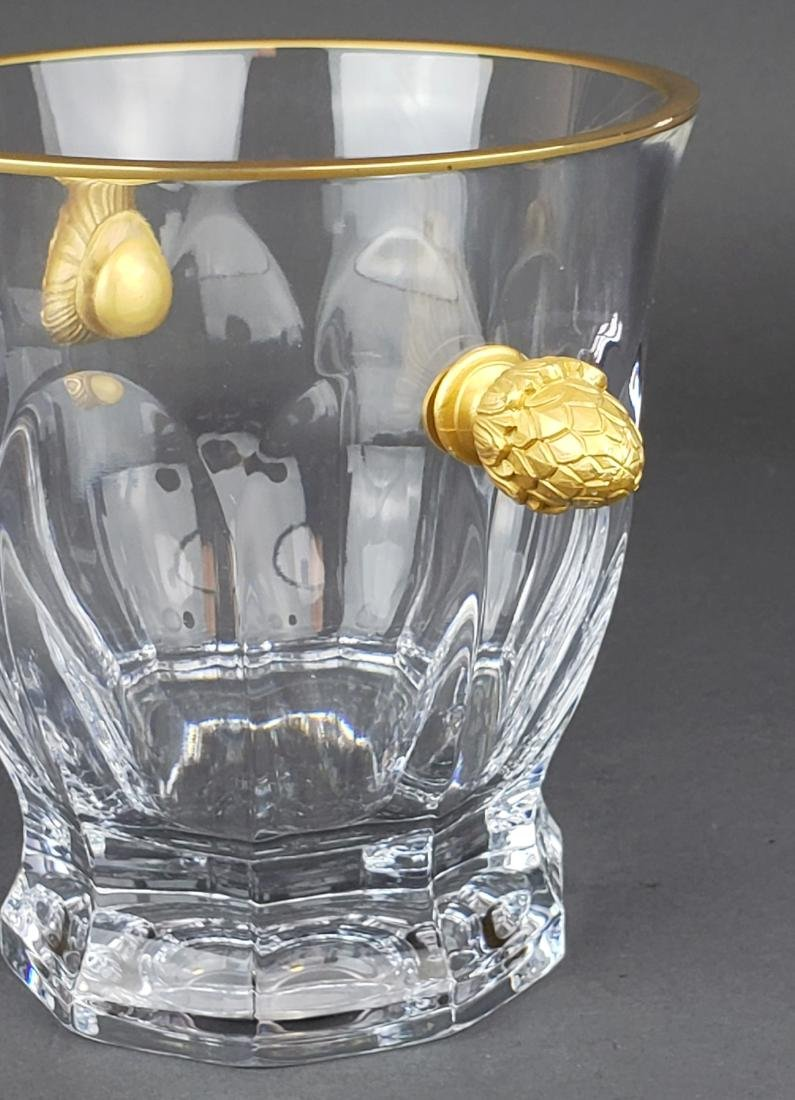 Faberge Atelier Crystal & Bronze Ice Bucket - 3
