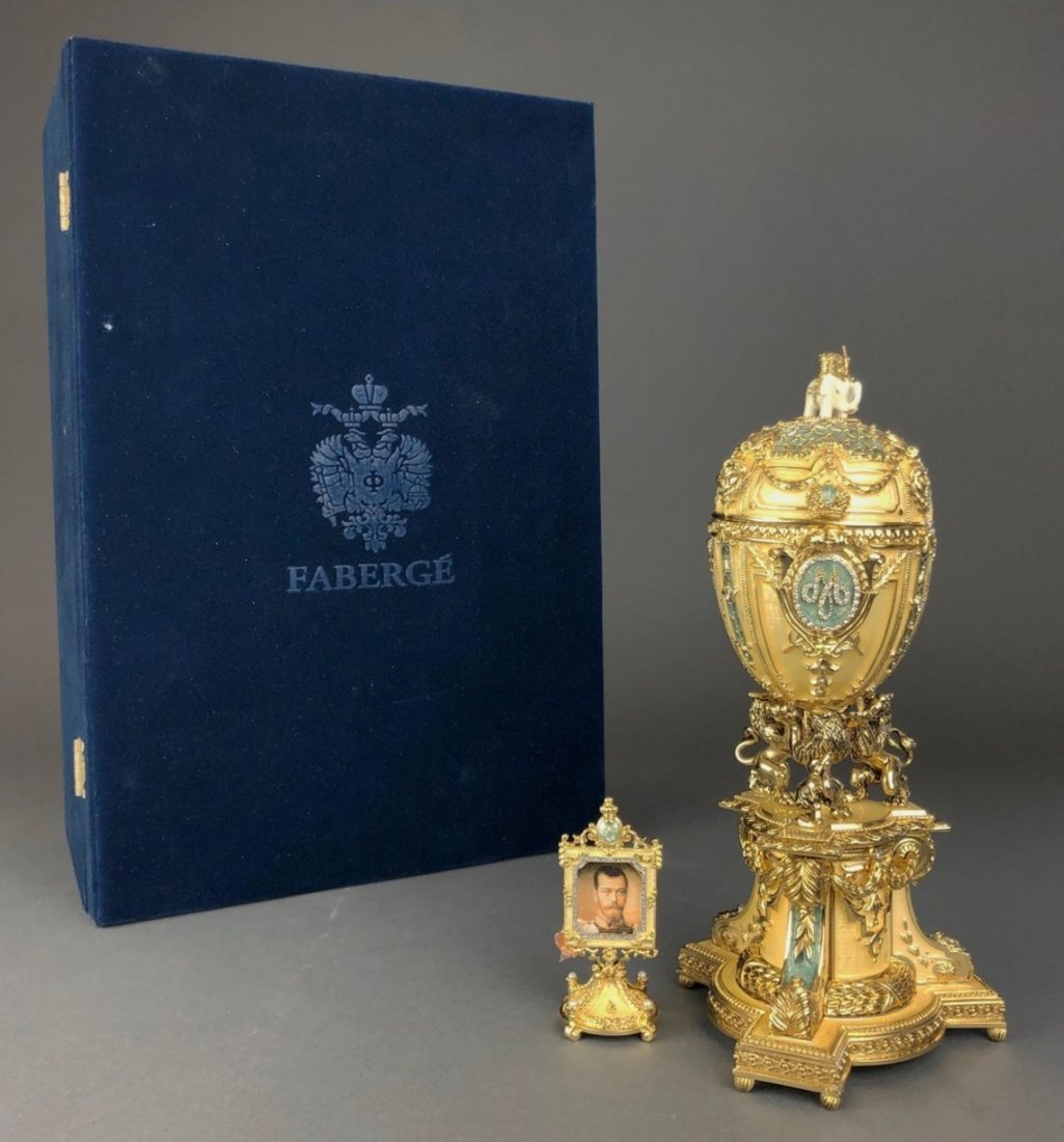 Faberge Danish Jubilee Egg With Miniature Photo Frame
