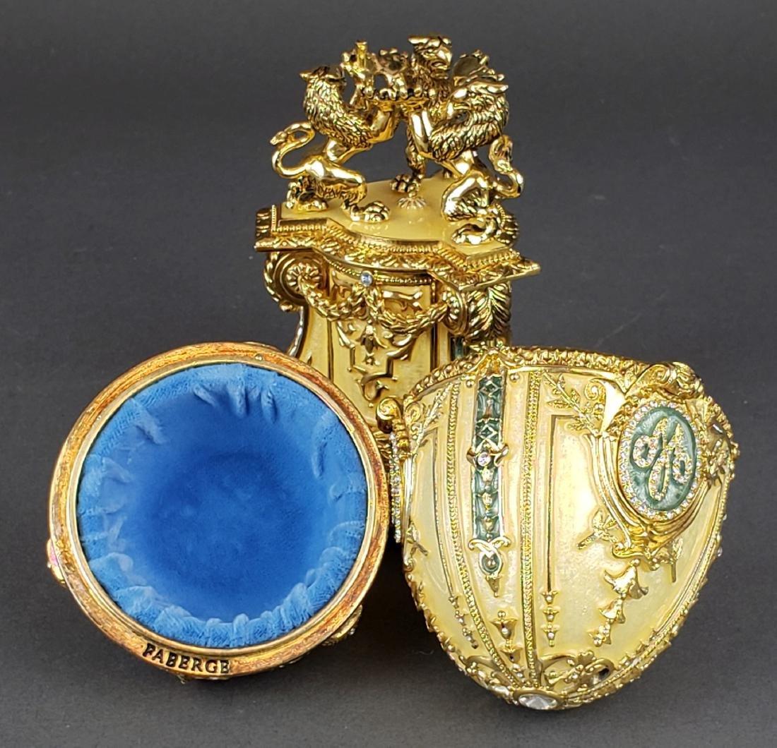 Faberge Danish Jubilee Egg With Miniature Photo Frame - 5
