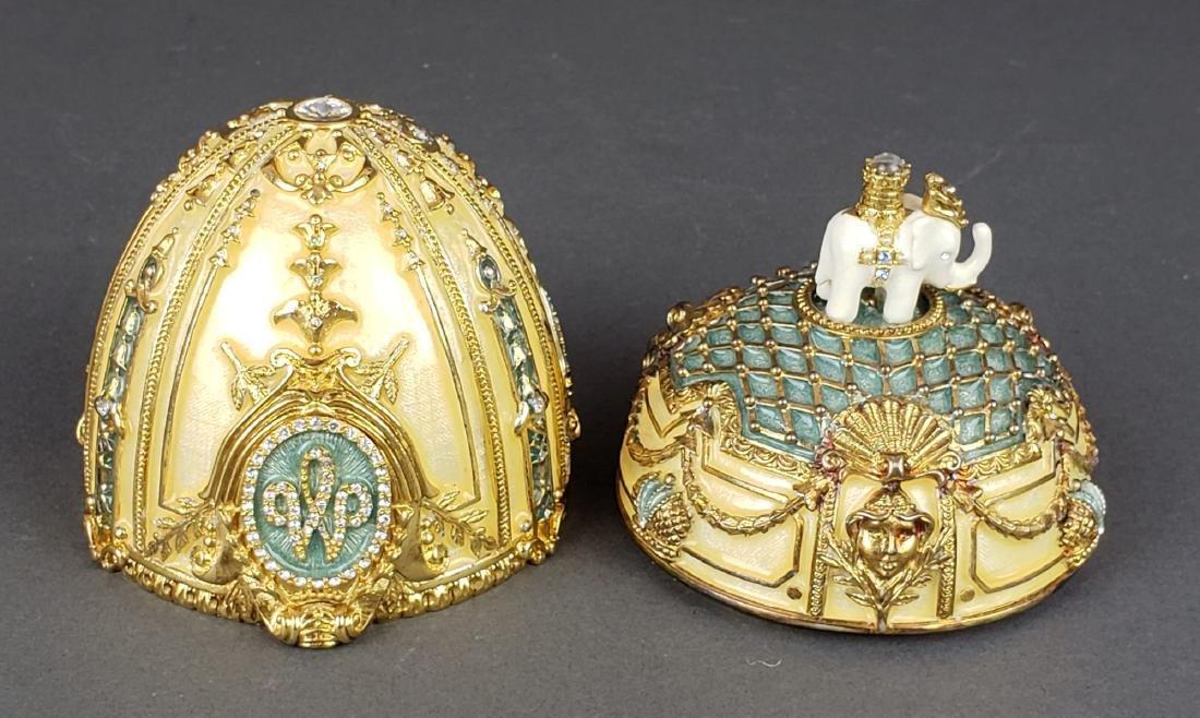 Faberge Danish Jubilee Egg With Miniature Photo Frame - 7
