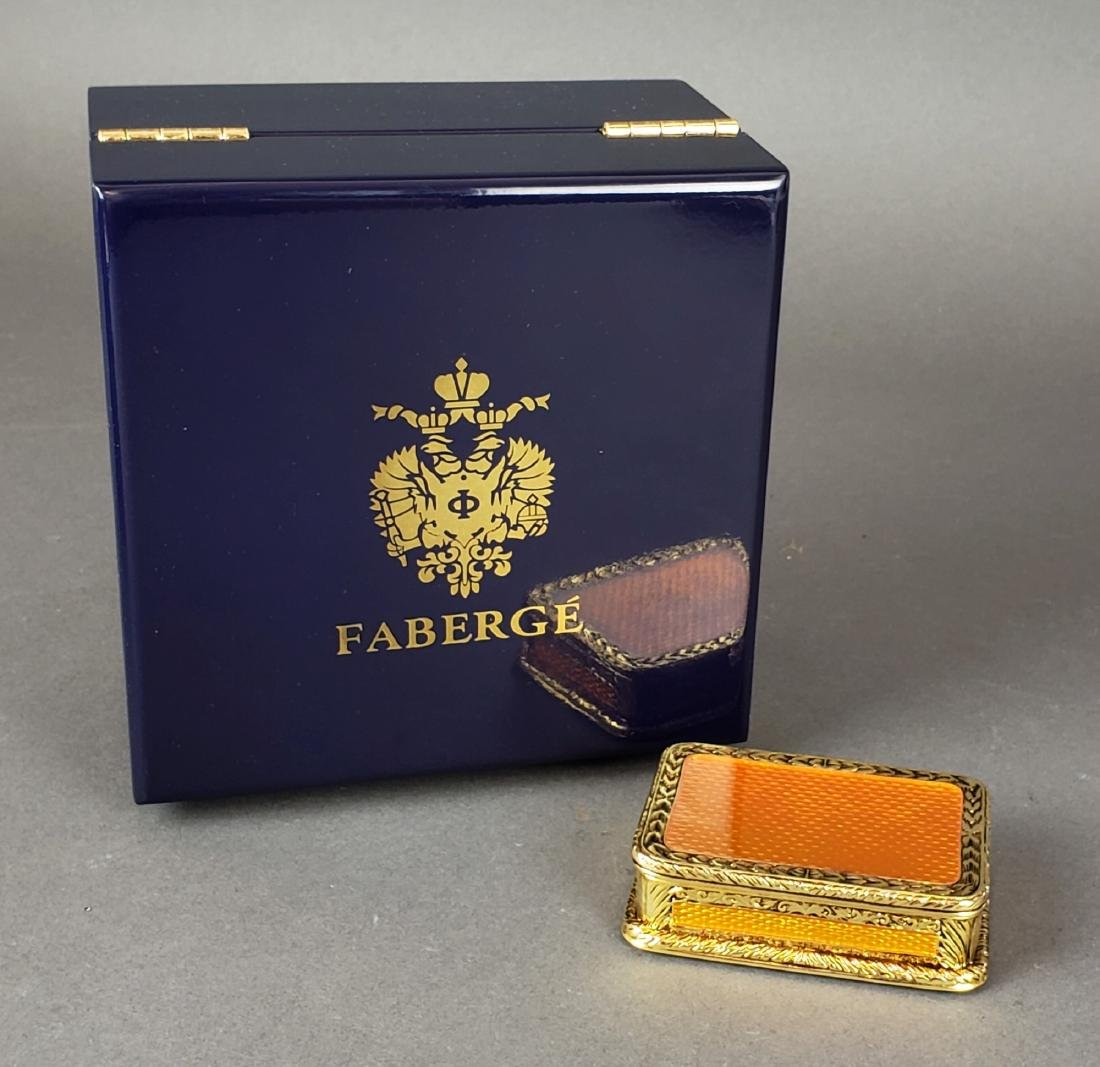 Faberge Enamel Jewelery Box