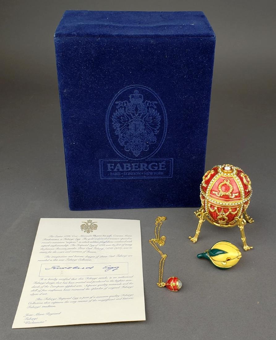 Faberge Egg Imperial Rosebud Surprise Neckace Jewelry