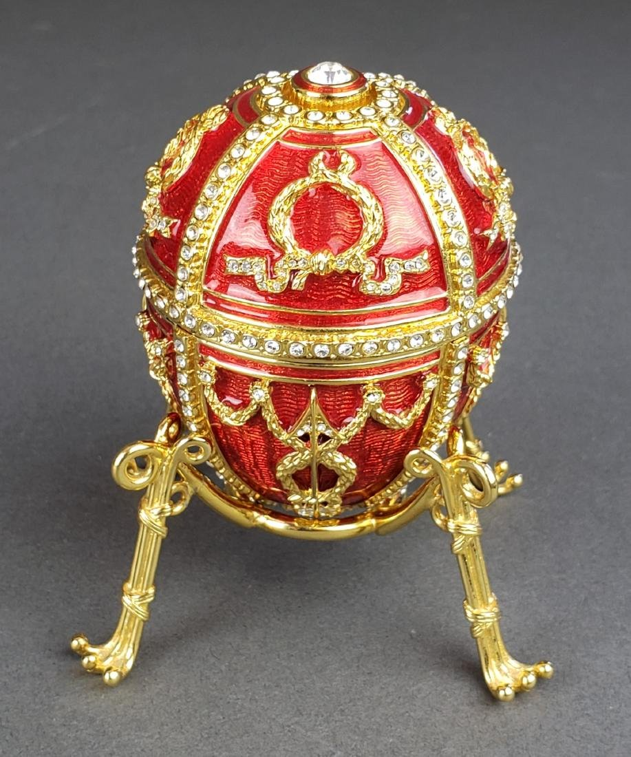 Faberge Egg Imperial Rosebud Surprise Neckace Jewelry - 2