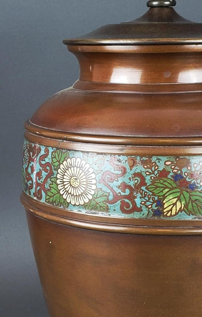 Chinese Cloisonne Lamp - 3