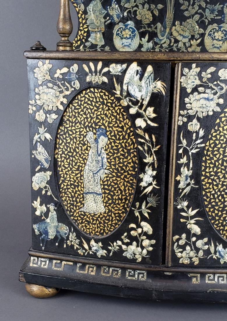 Chinese Wooden Large Jewelry Box - 2
