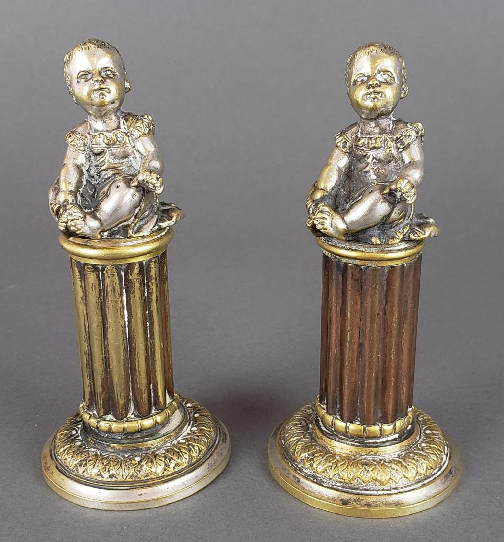 Pair of French Bronze Figures