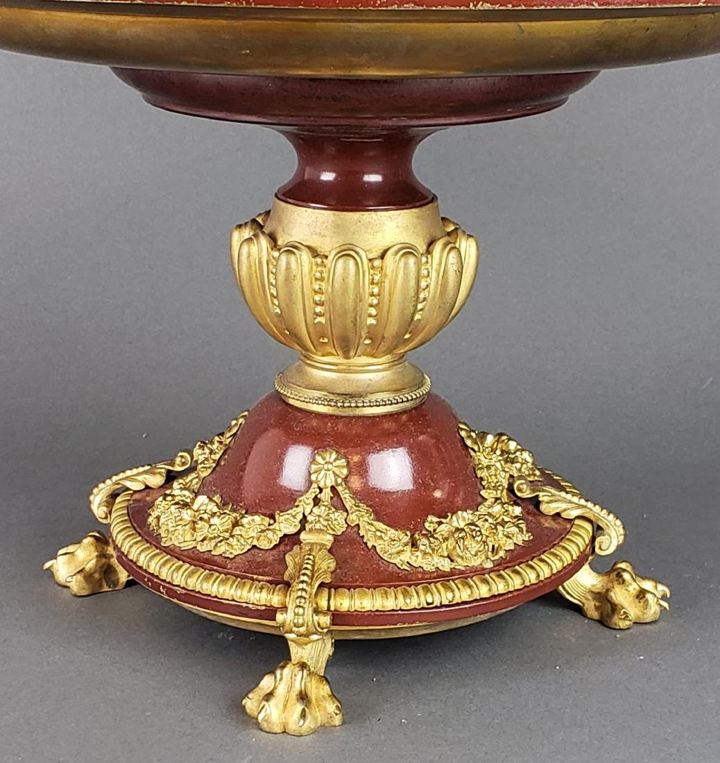 19th C. French Enamel Bronze Figural Centerpiece - 2