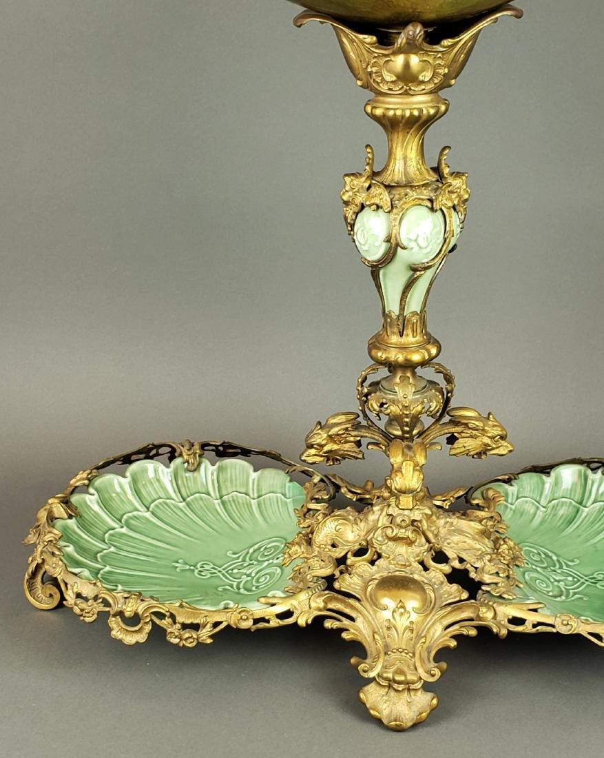 Large Dirk Van Erp Bronze & Porcelain Centerpiece - 2