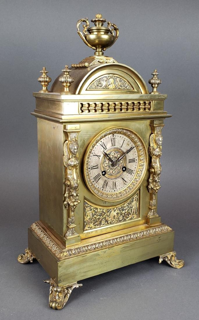 19th C. French Bronze Clockset - 3