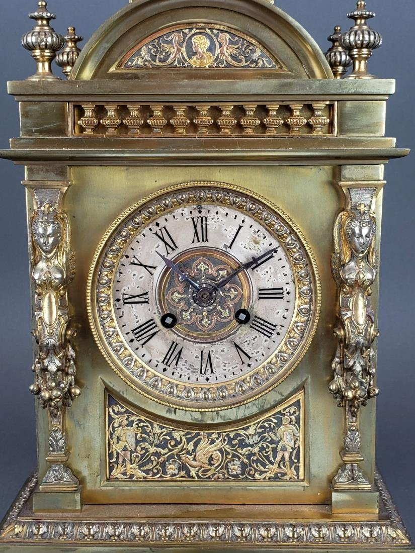 19th C. French Bronze Clockset - 4
