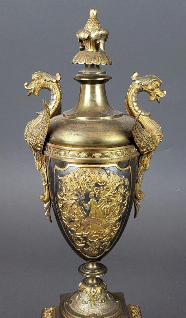 19th C. French Bronze Clockset - 7