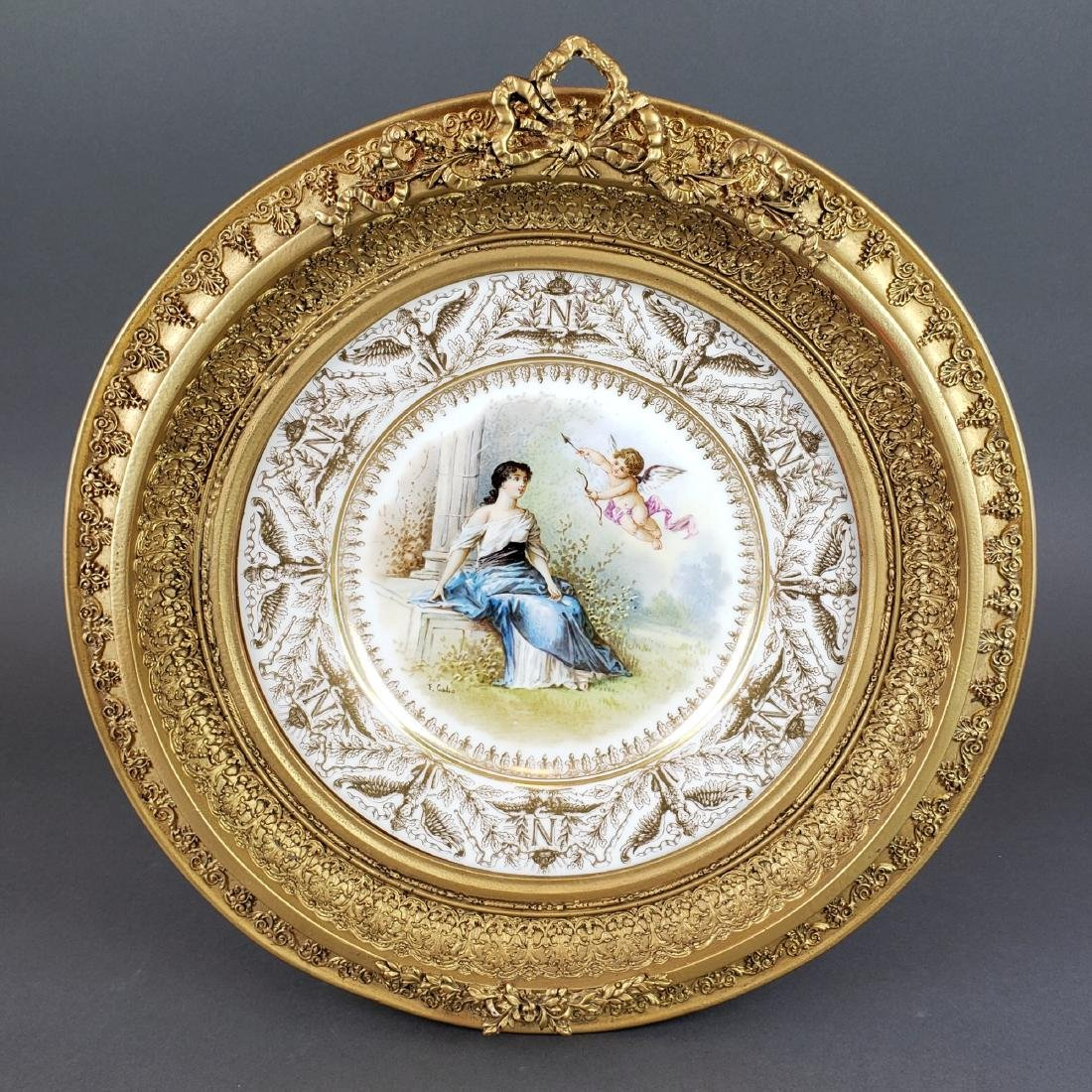 19th C. Framed French Sevres Plate