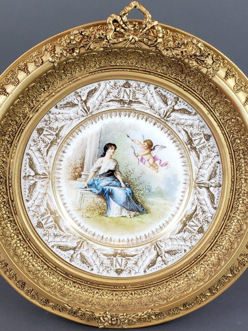 19th C. Framed French Sevres Plate - 2