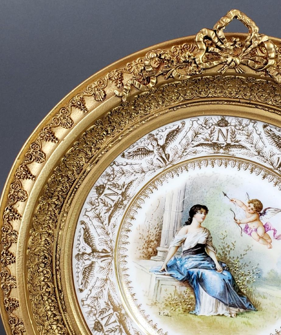 19th C. Framed French Sevres Plate - 3