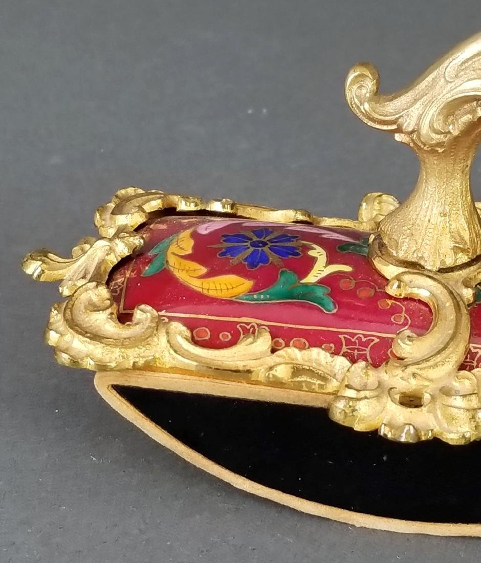 French Enamel & Bronze Paper weight - 2