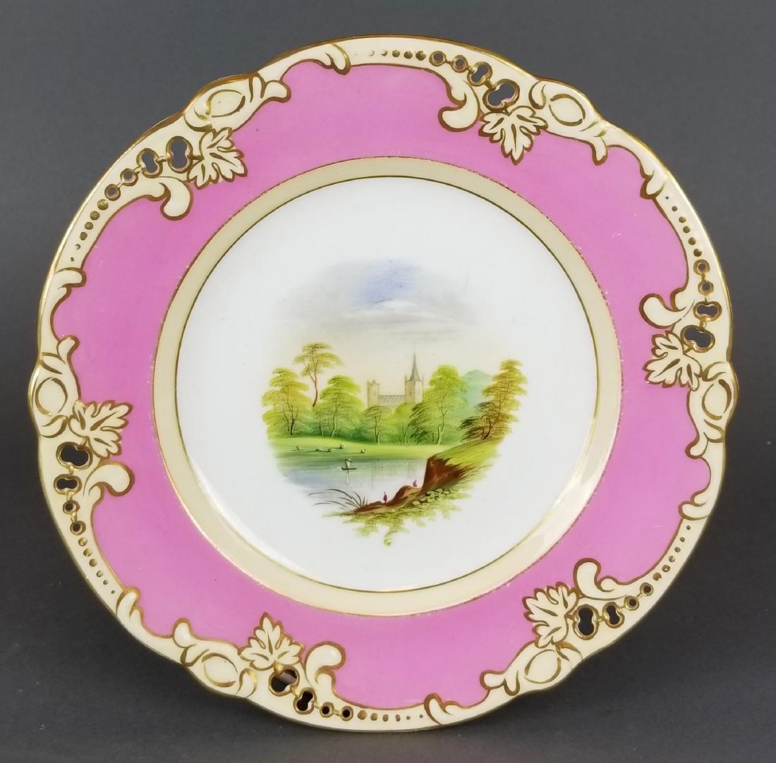 Set of 10 English Hand painted porcelain plates - 2