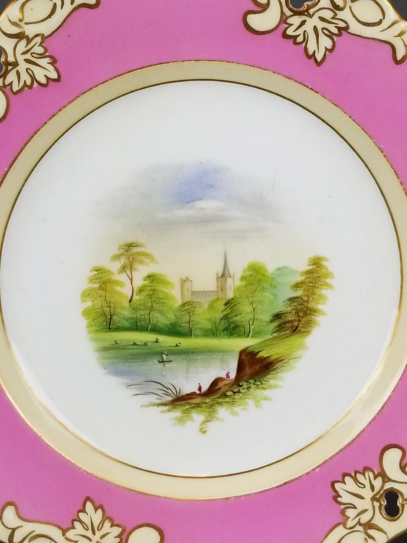Set of 10 English Hand painted porcelain plates - 3