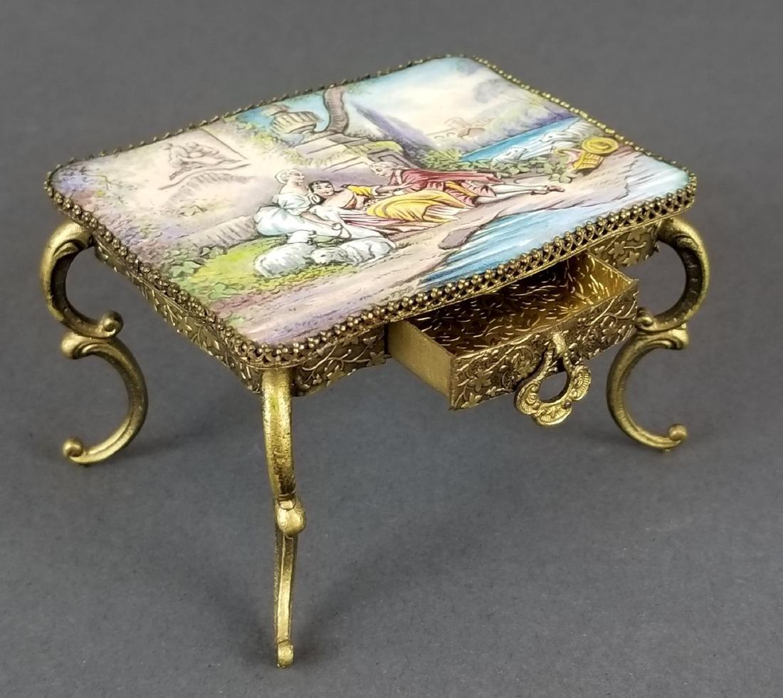 Set of 3 Viennese Enamel Furniture Pieces - 3