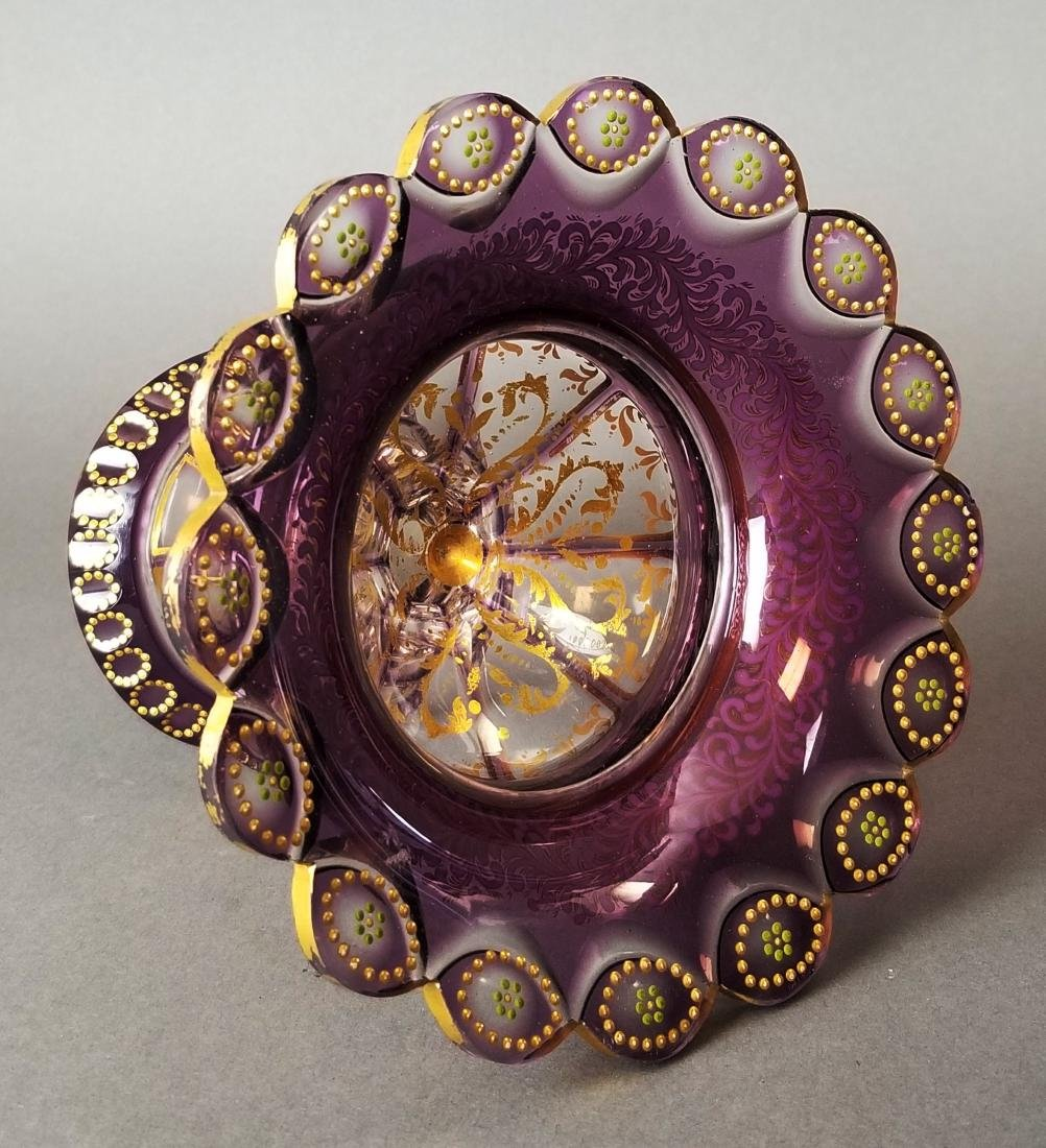 Moser Enamel Cut Crystal Vase - 4