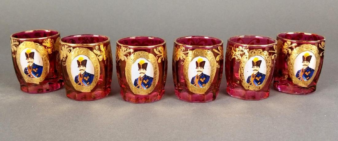 Set of 6 Persian Shot Glasses