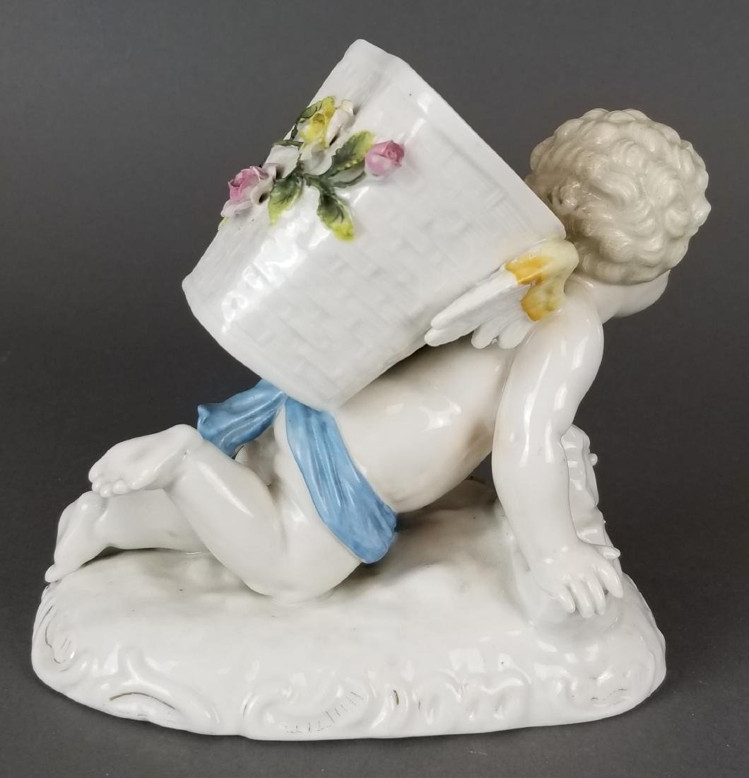 German Porcelain Figure of Cherub - 4