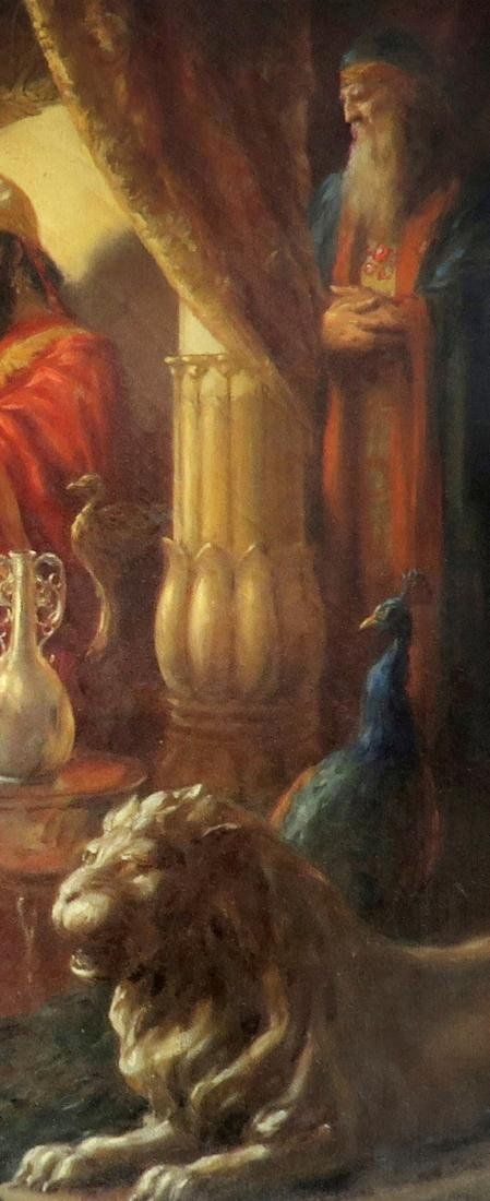 Judaica  Continental  Oil On Canvas  Solomon  Painting - 5